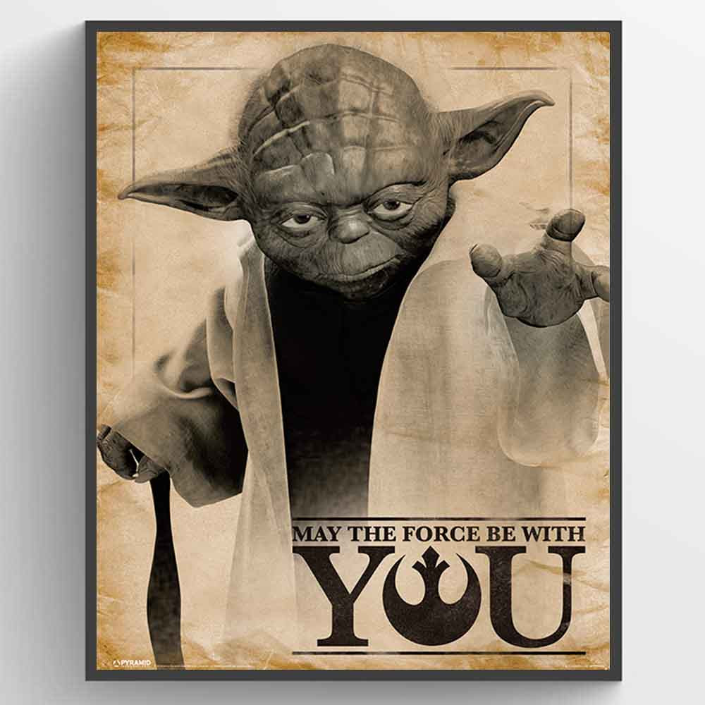 Star Wars Classic (Yoda, May the Force be With You) Plakat wallsticker
