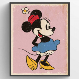 Minnie Mouse Retro Plakat wallsticker