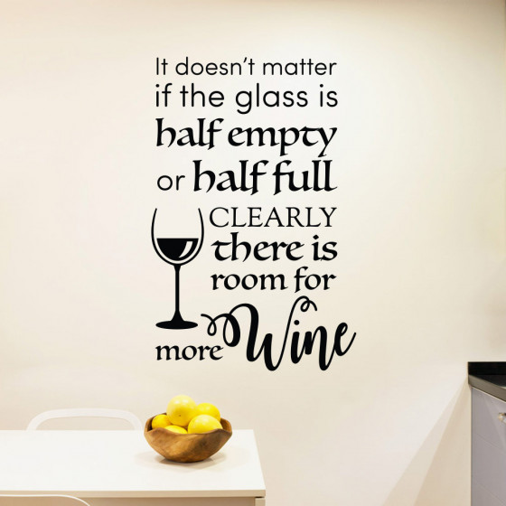 Room for more wine wallsticker