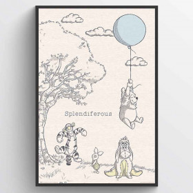 Peter Plys - Splendiferous Plakat wallsticker