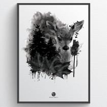 Forest deer plakat