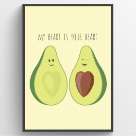Avocado love - plakat wallsticker