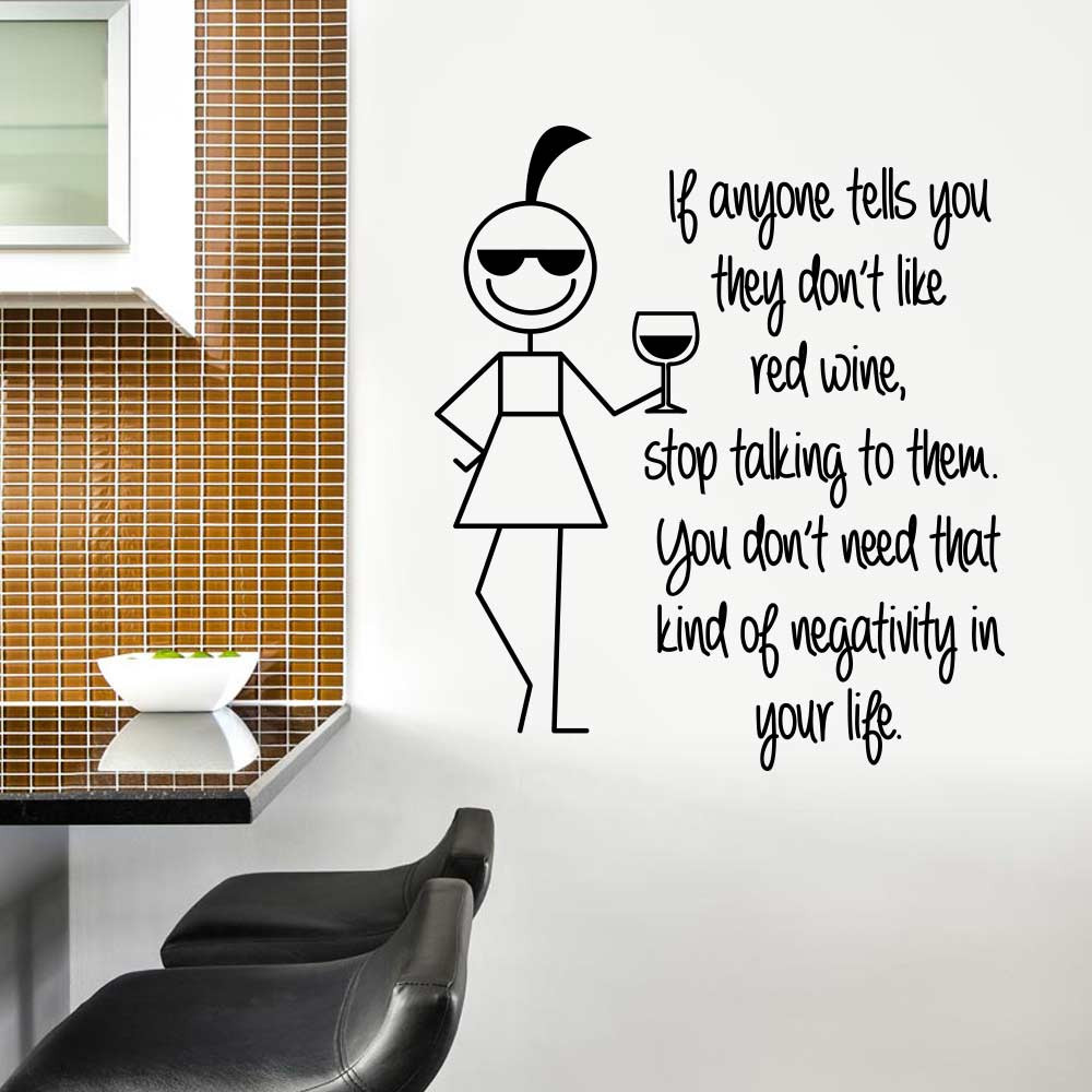 Loving red wine wallsticker
