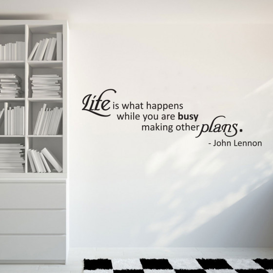 Life is - John Lennon wallsticker