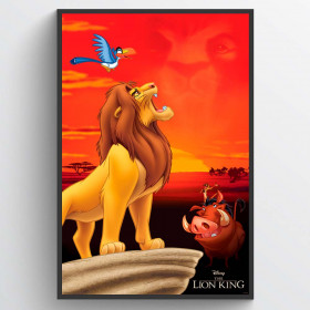 Løvernes Konge King of Pride Rock Plakat wallsticker