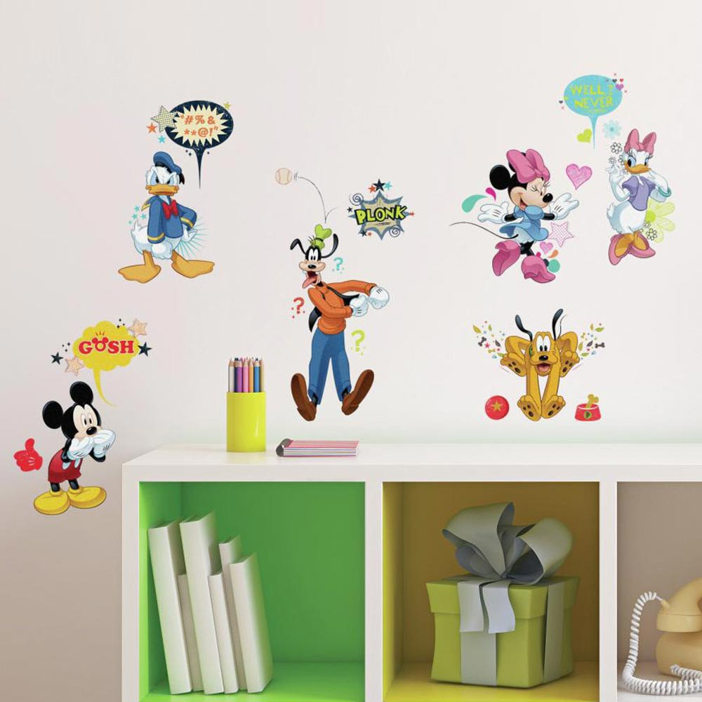 Mickey Mouse & Venner - pakke wallsticker