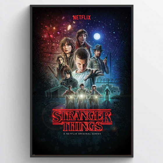Stranger Things Plakat wallsticker