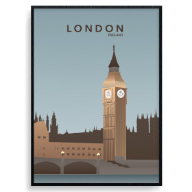 London - Big Ben plakat wallsticker