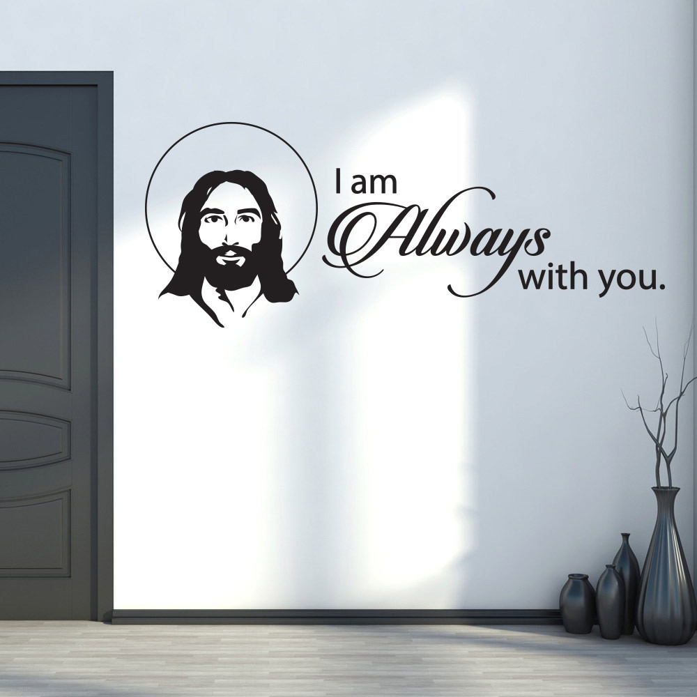 Jesus - i am always with you wallsticker