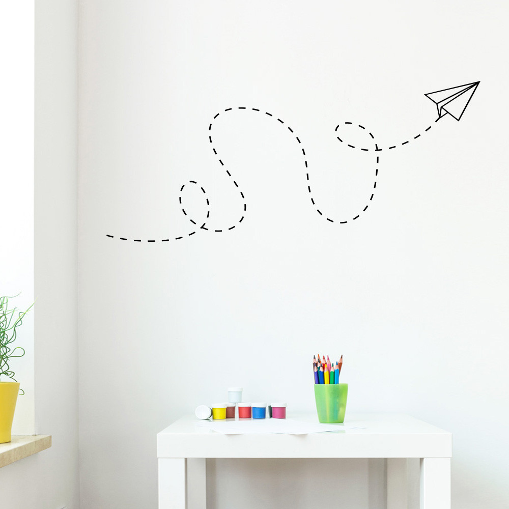 Papirfly wallsticker