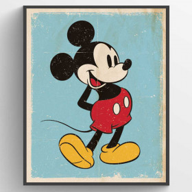 Mickey Mouse Retro Plakat wallsticker