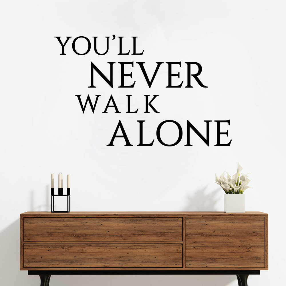 2 you 39 ll never walk alone wallsticker fra kun 149 kr. Black Bedroom Furniture Sets. Home Design Ideas