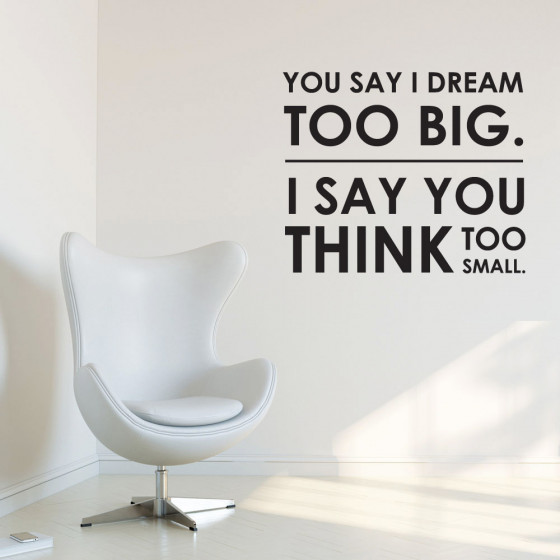 Dream big wallsticker