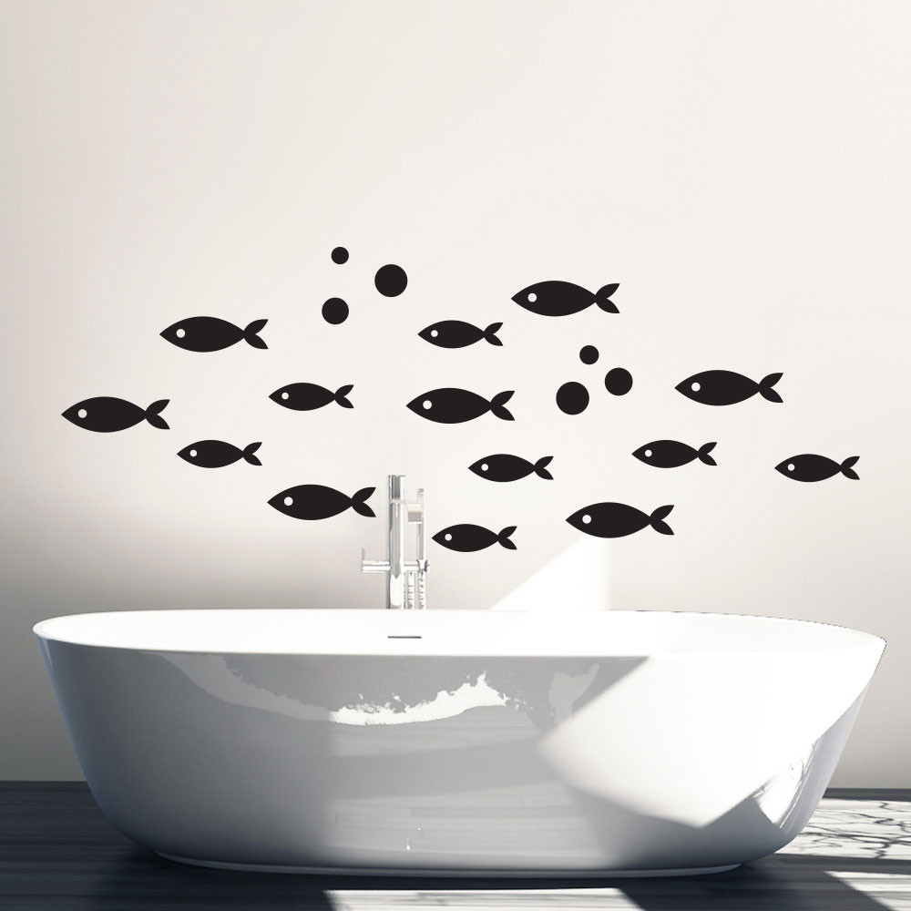 Fiskestime wallsticker