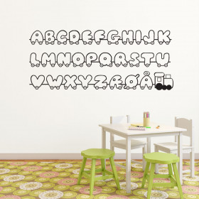 Alfabet wallsticker