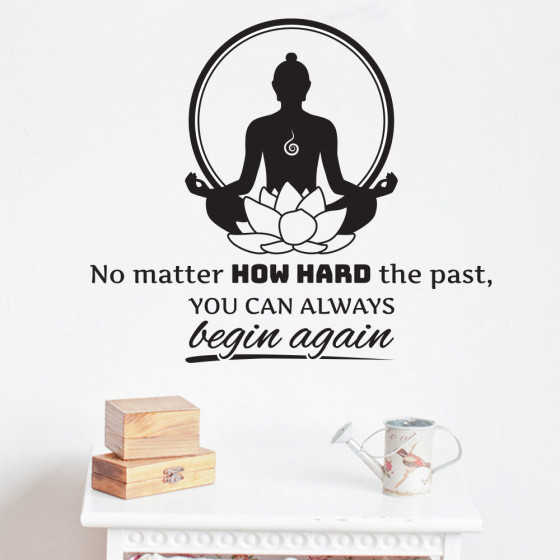 No matter how hard the past wallsticker