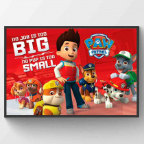 Paw Patrol No Pup Is Too Small Plakat