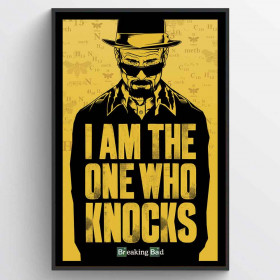 Breaking Bad (I Am the One Who Knocks) Plakat wallsticker