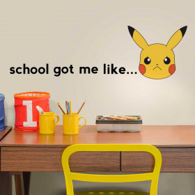 Pokemon Pikachu - School wallsticker