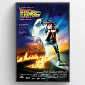 Back to the Future Plakat wallsticker