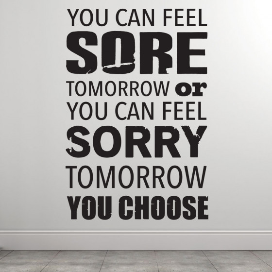 Sore or sorry wallsticker