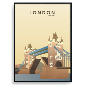 London - Tower Bridge - plakat wallsticker
