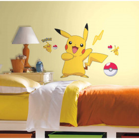 Pokemon Pikachu - pakke wallsticker